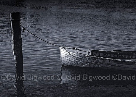Moored dinghy